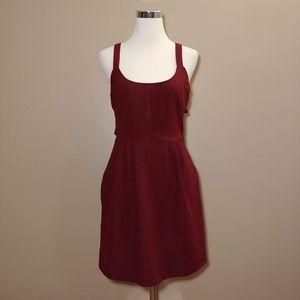 Ark & Co Burgundy Cutout Dress